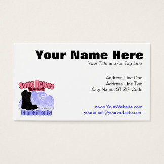 My Hero Wears Combat Boots Business Card