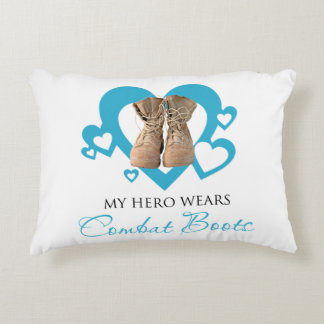 My Hero Wears Combat Boots Decorative Pillow