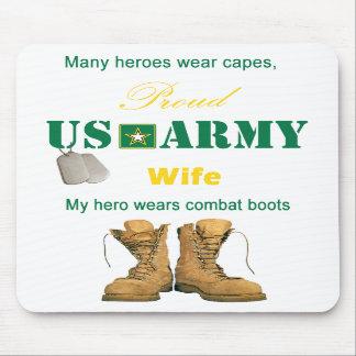My Hero Wears Combat Boots Mousepad
