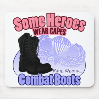My Hero Wears Combat Boots Mousepads