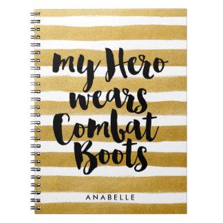 My Hero Wears Combat Boots Spiral Notebook