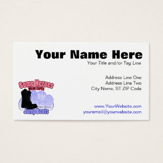 My Hero Wears Jump Boots Business Card