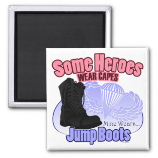 My Hero Wears Jump Boots Magnet