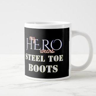 My Hero Wears Steel Toe Safety Boots Giant Coffee Mug
