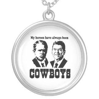 My heroes have always been cowboys personalized necklace