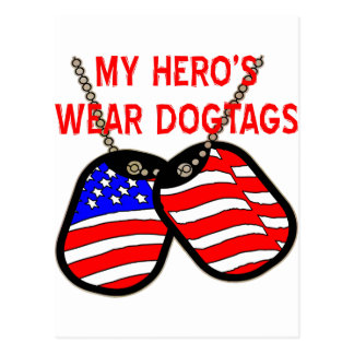 My Hero's Wear Dog Tags Postcard