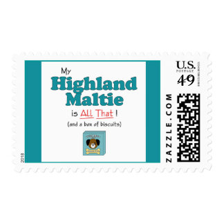 My Highland Maltie is All That! Postage Stamps