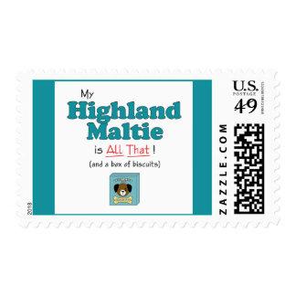 My Highland Maltie is All That! Stamp