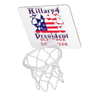 My Hillary for USA President Stronger Together B Mini Basketball Hoop