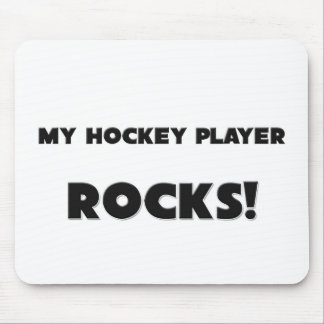 MY Hockey Player ROCKS! Mouse Pad