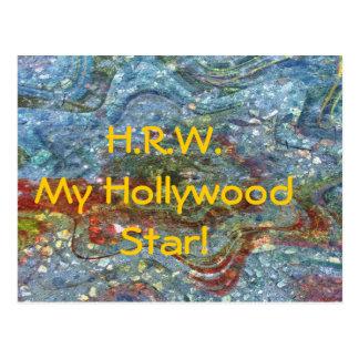My Hollywood Star Postcard