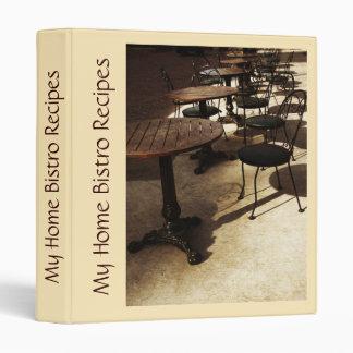 My home bistro recipes vinyl binder