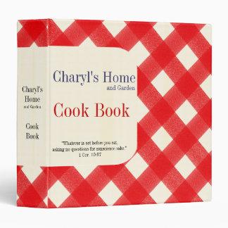 My Home Cook Book Vinyl Binders