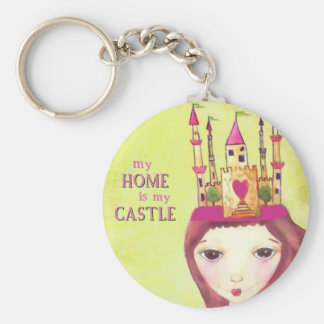 my home is my castle keychain
