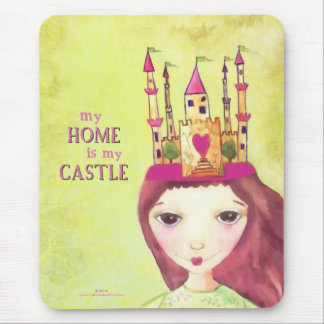my home is my castle mouse pad