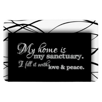 My Home Is My Sanctuary Home Blessing Inspiration Magnet