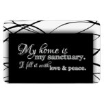 My Home Is My Sanctuary Home Blessing Inspiration Rectangular Photo Magnet
