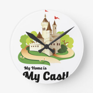 my home my castle round clock