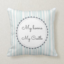 My Home My Castle Throw Pillow