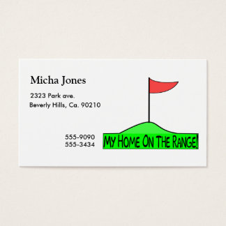 My Home On The Range Golf Business Card