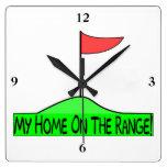 My Home On The Range Golf Clock