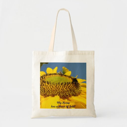 My Honey has a Heart of Gold! tote bag gifts Sunny