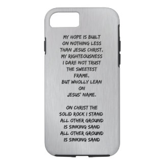 My Hope is built on nothing less Christian Hymn iPhone 8/7 Case