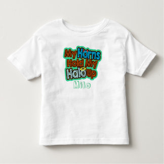 My Horns Hold My Halo Up Girl or Boy - Toddler T-shirt