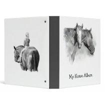 MY HORSE ALBUM: BINDER: PENCIL ART: REALISM 3 RING BINDER