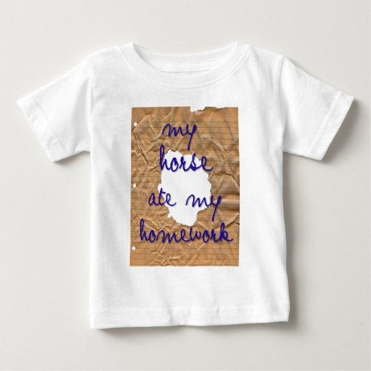 My Horse Ate My Homework Baby T-Shirt