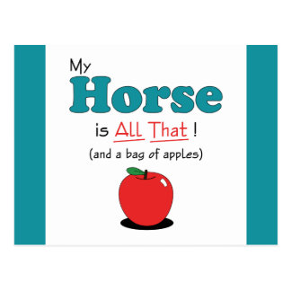 My Horse is All That! Funny Horse Postcard