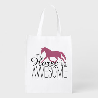 My Horse Is Awesome Equestrian Grocery Bag