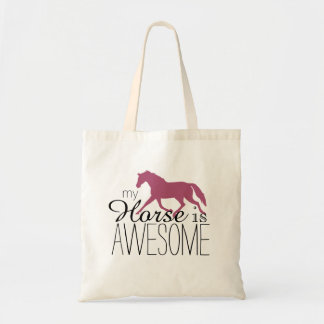 My Horse Is Awesome Equestrian Tote Bag