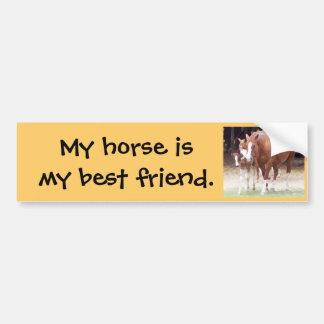 My horse is my best friend sticker car bumper sticker