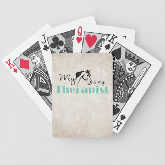 My Horse is My Therapist Bicycle Playing Cards