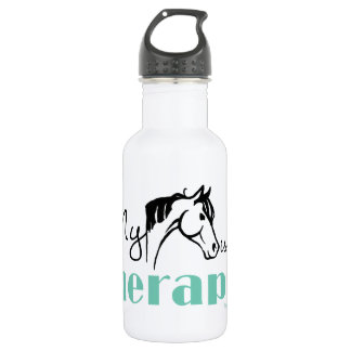 My Horse is My Therapist 18oz Water Bottle