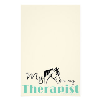 My Horse is My Therapist Stationery