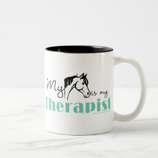My Horse is My Therapist Two-Tone Coffee Mug