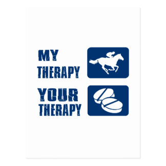 My Horse Racing your Therapy Postcard