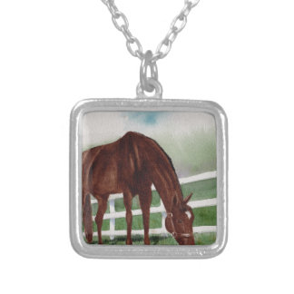 My Horse Silver Plated Necklace
