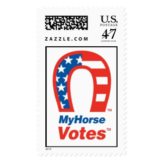 My Horse Votes In The USA! Postage