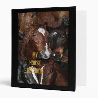 My HorseRecords Vinyl Binders