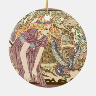 My House Double-Sided Ceramic Round Christmas Ornament