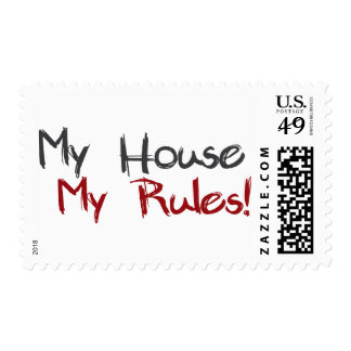 My House My Rules Postage Stamp