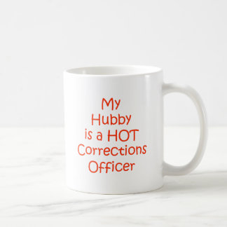 My hubby is a hot corrections officer coffee mug