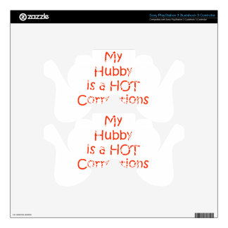 My hubby is a hot corrections officer decal for PS3 controller