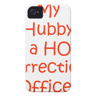 My hubby is a hot corrections officer iPhone 4 Case-Mate case