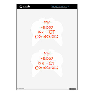 My hubby is a hot corrections officer xbox 360 controller skins