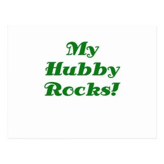My Hubby Rocks Postcard