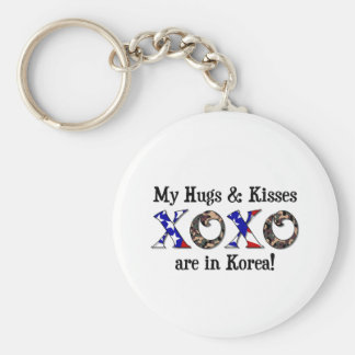 My hugs & Kisses are in Korea Basic Round Button Keychain